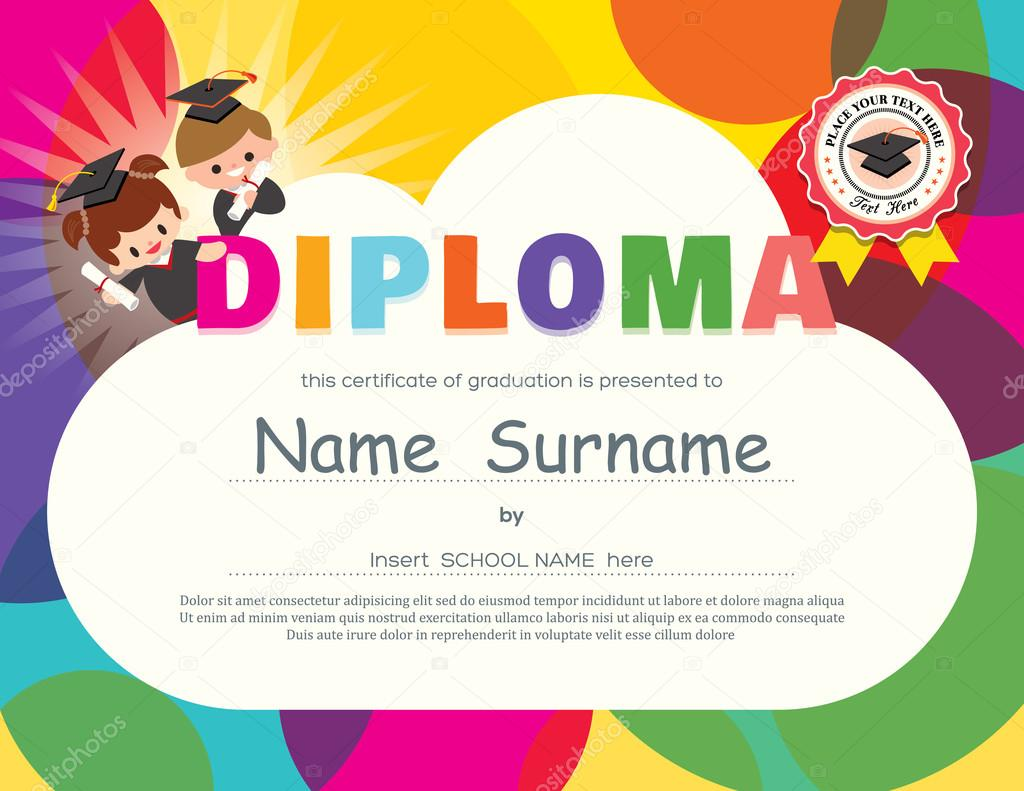 depositphotos 100157582-stock-illustration-preschool-elementary-school-kids-diploma