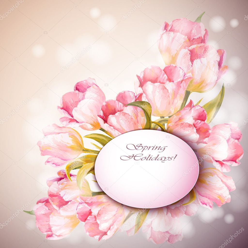 depositphotos 43191095-stock-illustration-tulips-flowers-background